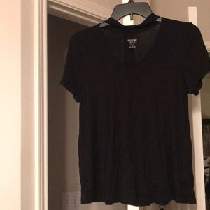 mossimo black shirt sleeve with cutout